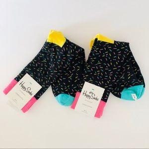 HAPPY SOCKS • 2 pair confetti dress socks